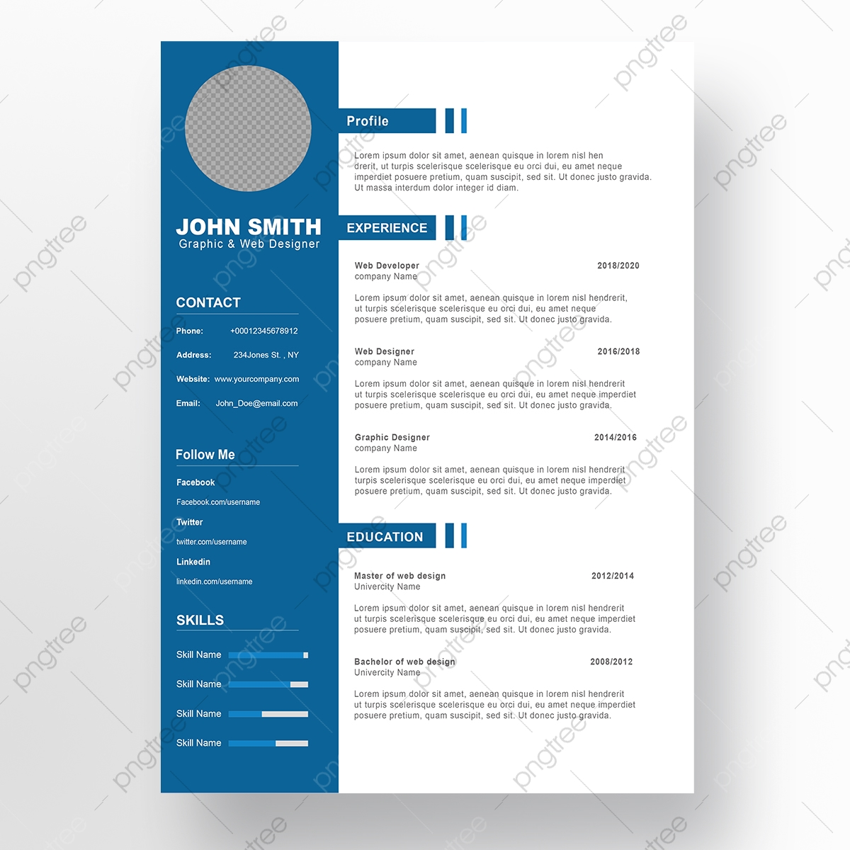 Cv Psd from png.pngtree.com