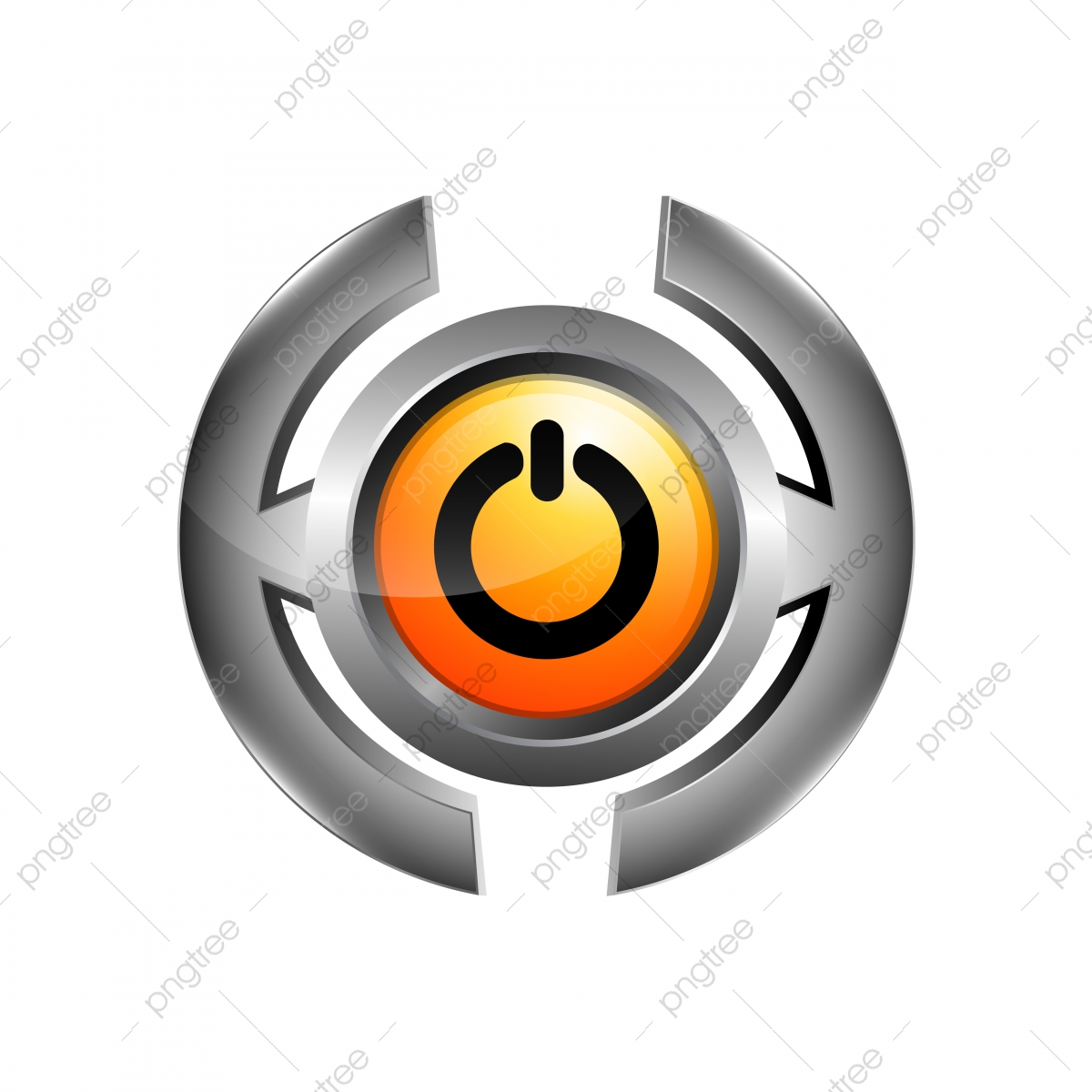 3d logo of chrome power button turn off icon vector isolated on template for free download on pngtree 3d logo of chrome power button turn off