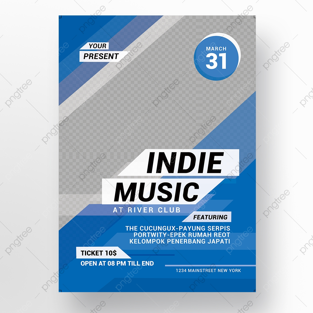 Indie Music Event Flyer Template For Free Download On Pngtree