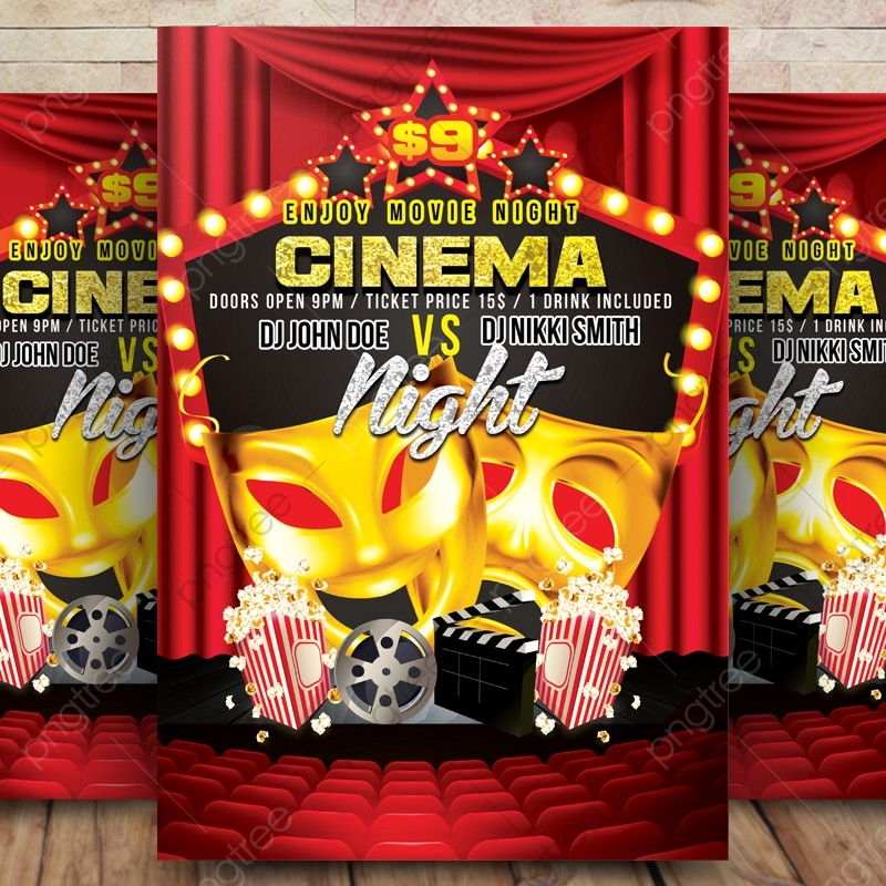 Movie Night Flyer Template from png.pngtree.com