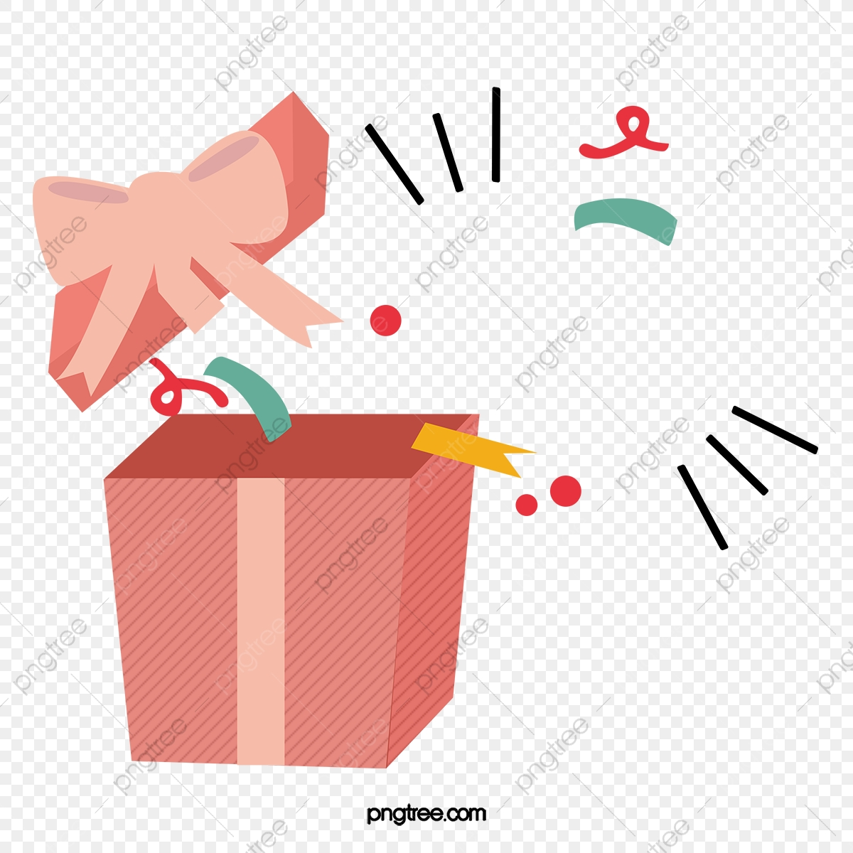 Open Gift Box Vector Png Pink Gift Box Png Transparent Clipart Image And Psd File For Free Download