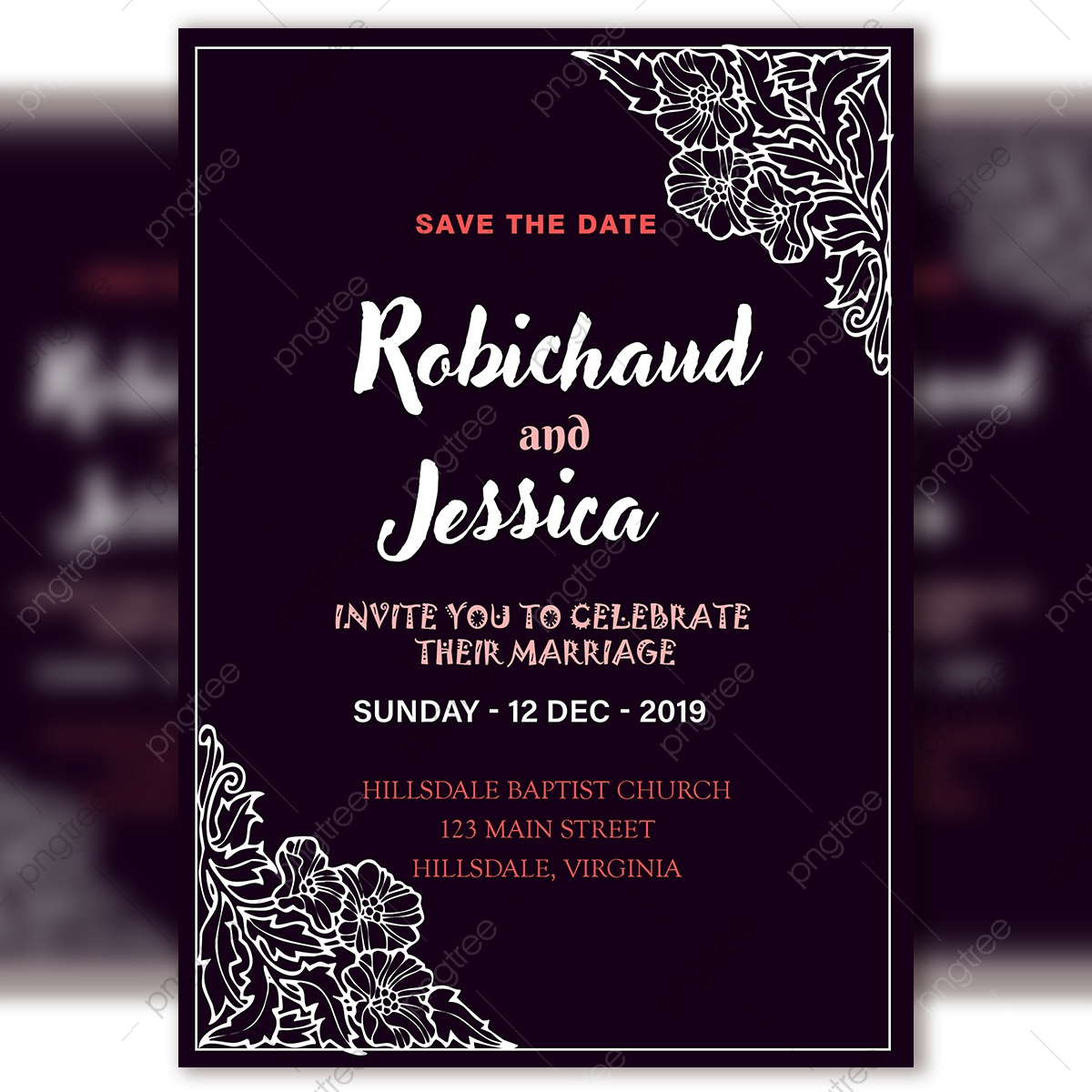 Vintage Wedding Invitation Card Template Psd File With Royal Frame Template  for Free Download on Pngtree