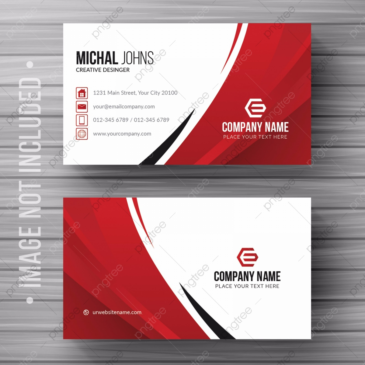 White Business Card With Details Template For Free Download On Pngtree