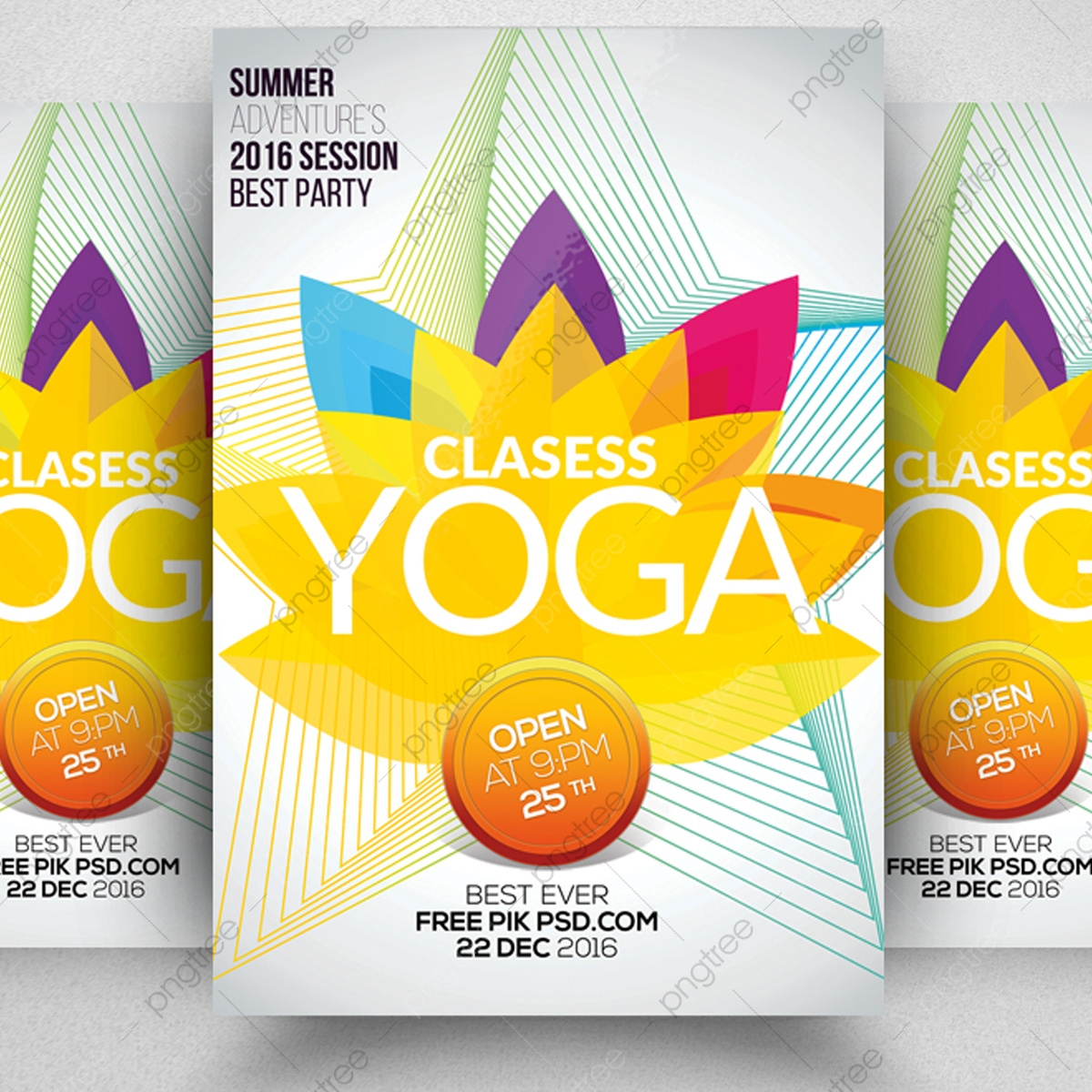 Yoga Classes Flyer Template Template For Free Download On Pngtree