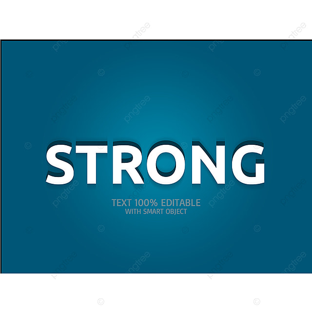 Strong 3d Text Effect Font Effect Psd For Free Download