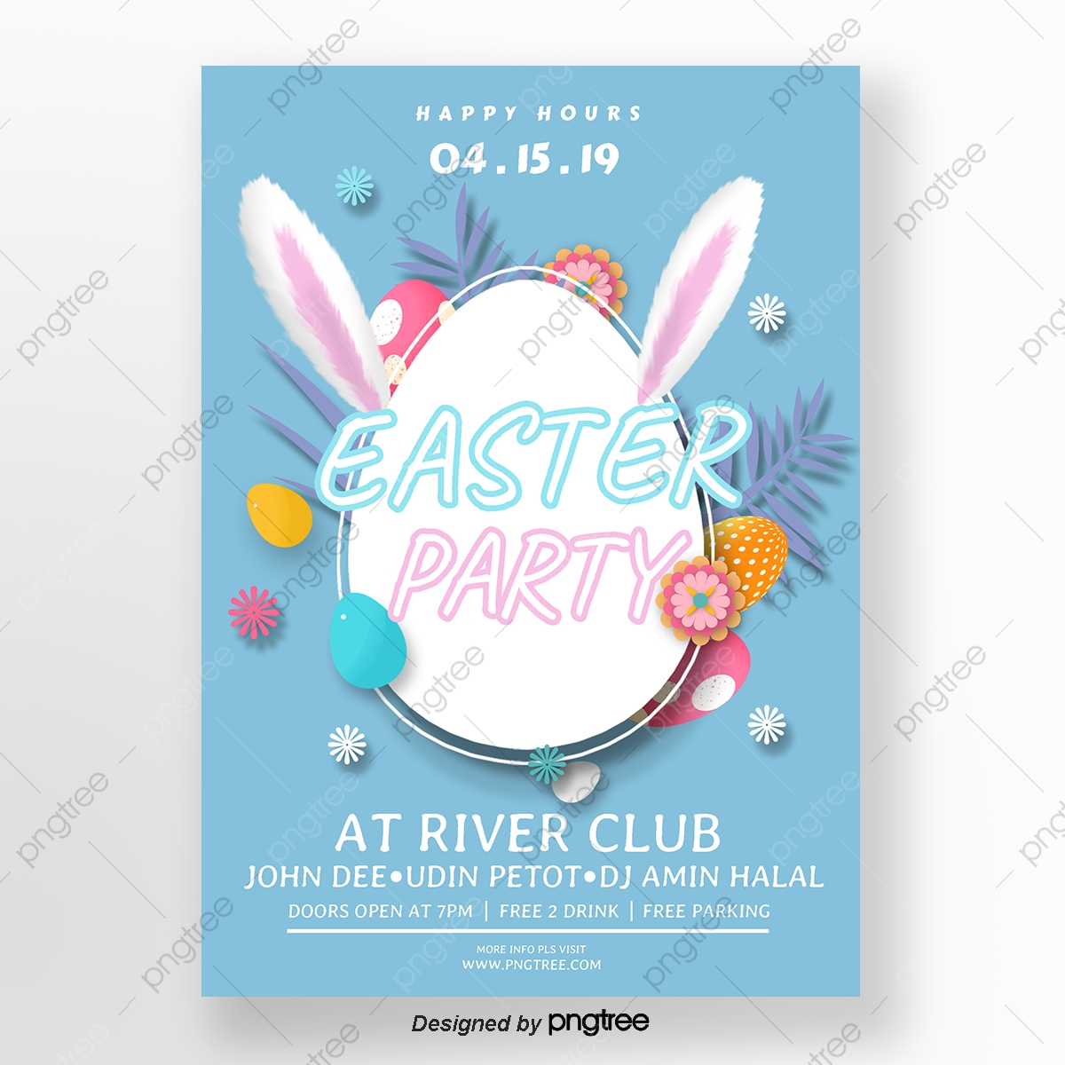 Closed For Easter Template from png.pngtree.com