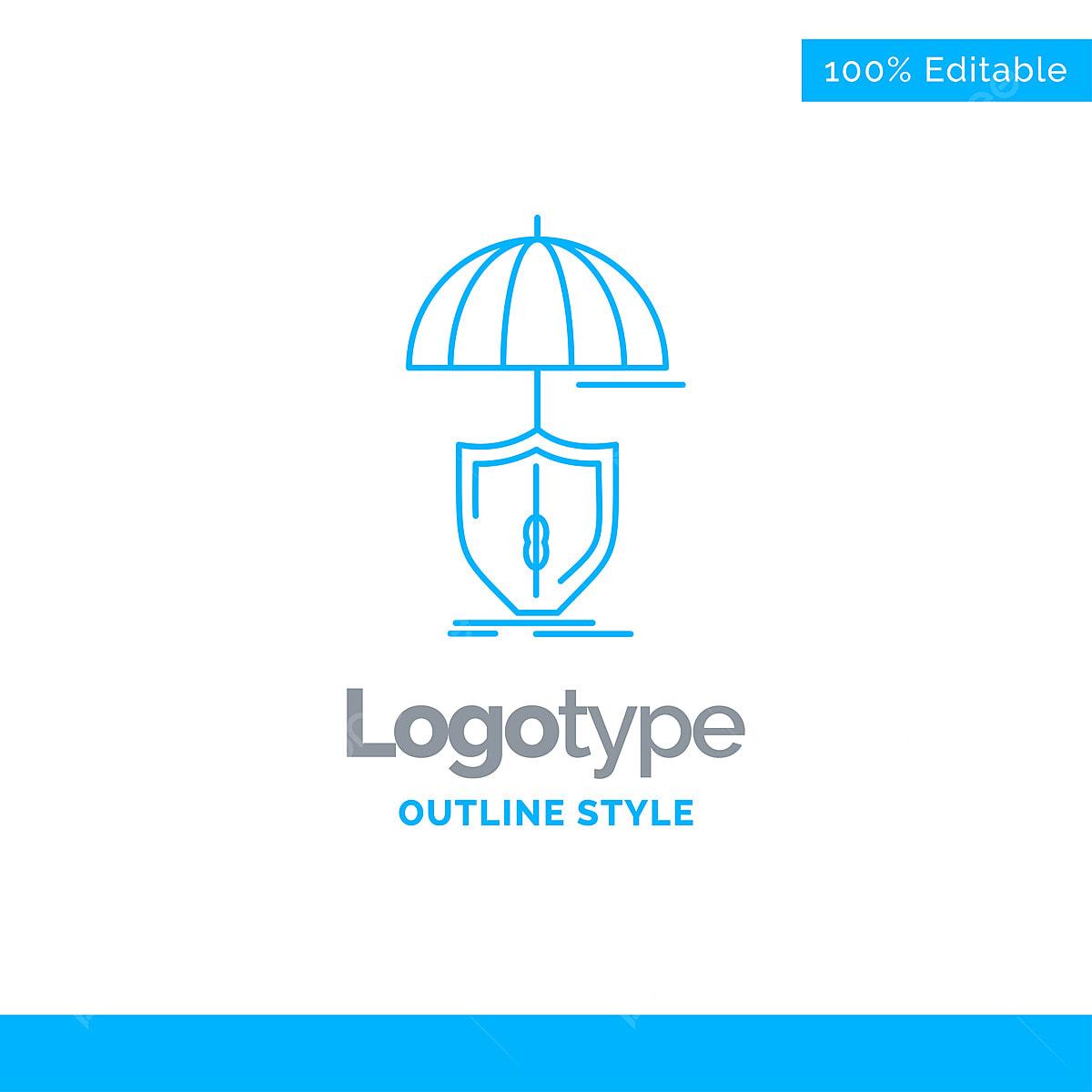 Blue Logo Design For Insurance Protection Safety Digital Shi Template Download On Pngtree