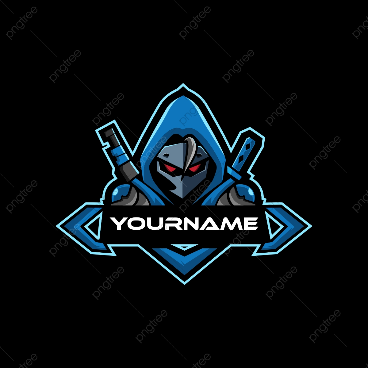 Blue Samurai Esports Logo For Mascot Gaming Template For Free Download On Pngtree