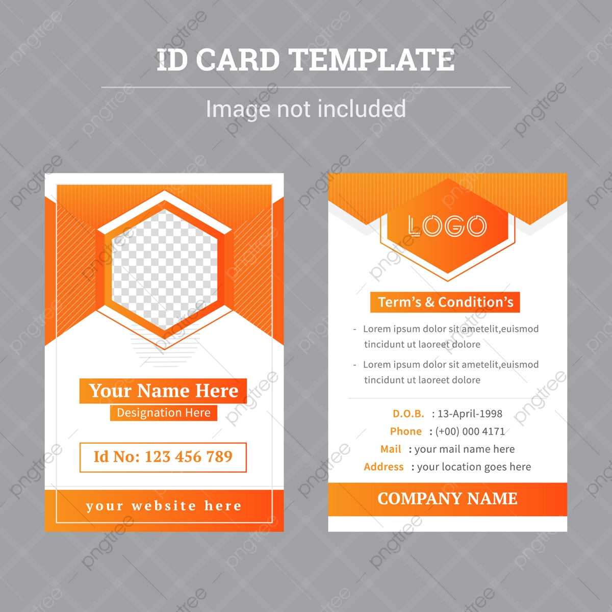 Free Identity Card Template from png.pngtree.com