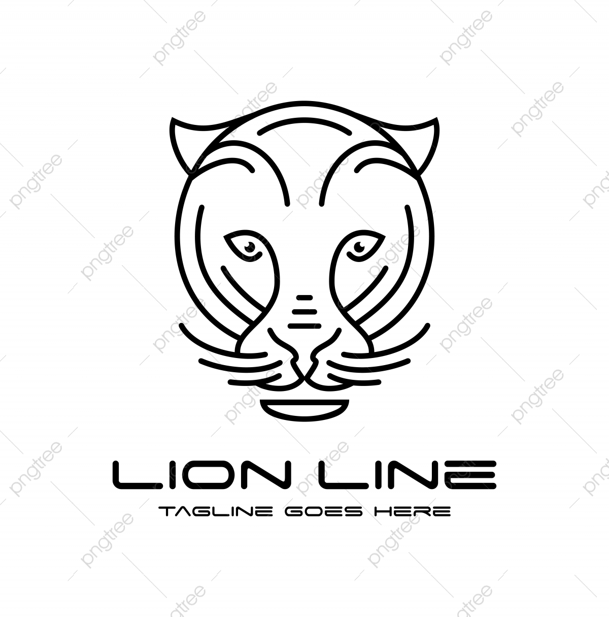Lion Head Outline Logo Template Download On Pngtree Lion outline machine embroidery design by ace points. lion head outline logo template
