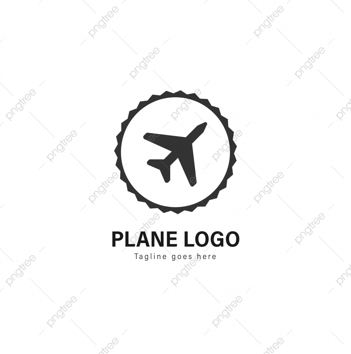 Plane Logo Template Design Plane Logo With Modern Frame Template Download On Pngtree
