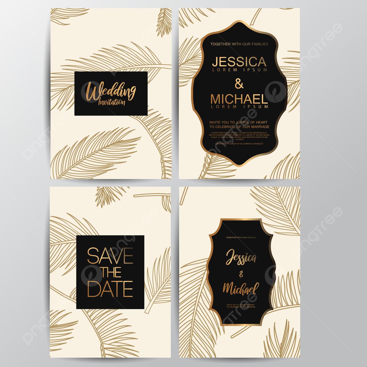 Kartu Undangan Pernikahan Mewah Premium Templat Untuk Unduh Gratis Di Pngtree