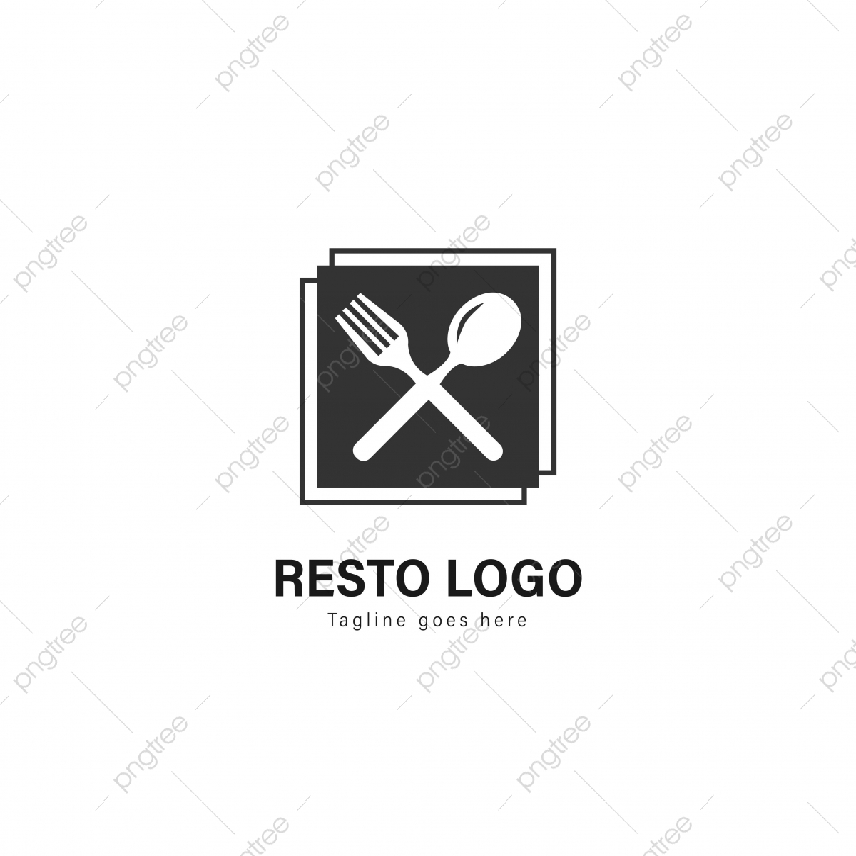 Restaurant Logo Template Design Restaurant Logo With Modern Frame Template Download On Pngtree
