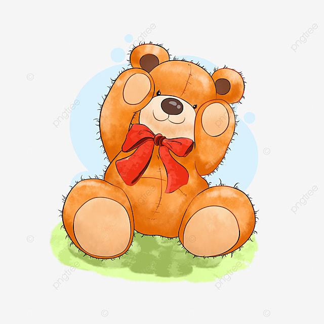 Kartun Beruang Teddy Bear Kartun Tangan Lucu Lukisan Tangan Cokelat Menyenangkan Png Transparan Gambar Clipart Dan File Psd Untuk Unduh Gratis