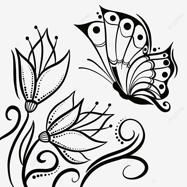 Bunga Kupu Kupu Garis Abstrak Hitam Abstrak Hitam Baris Png Transparan Gambar Clipart Dan File Psd Untuk Unduh Gratis