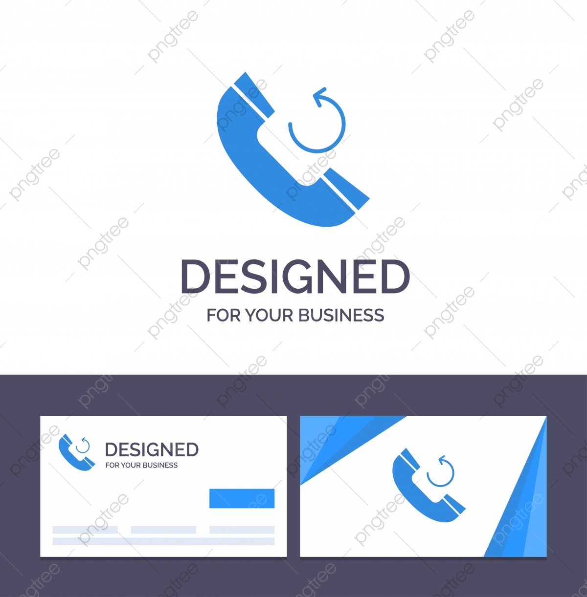 pngtree creative business card and logo template call phone callback v png image 4485668