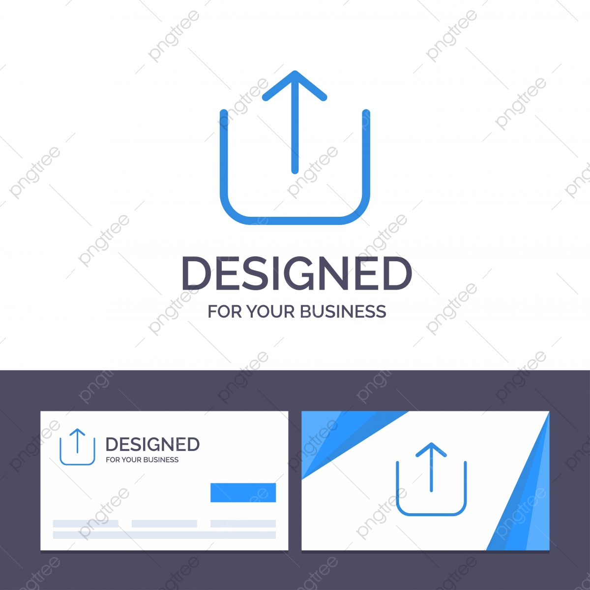 pngtree creative business card and logo template instagram up upload v png image 4791299