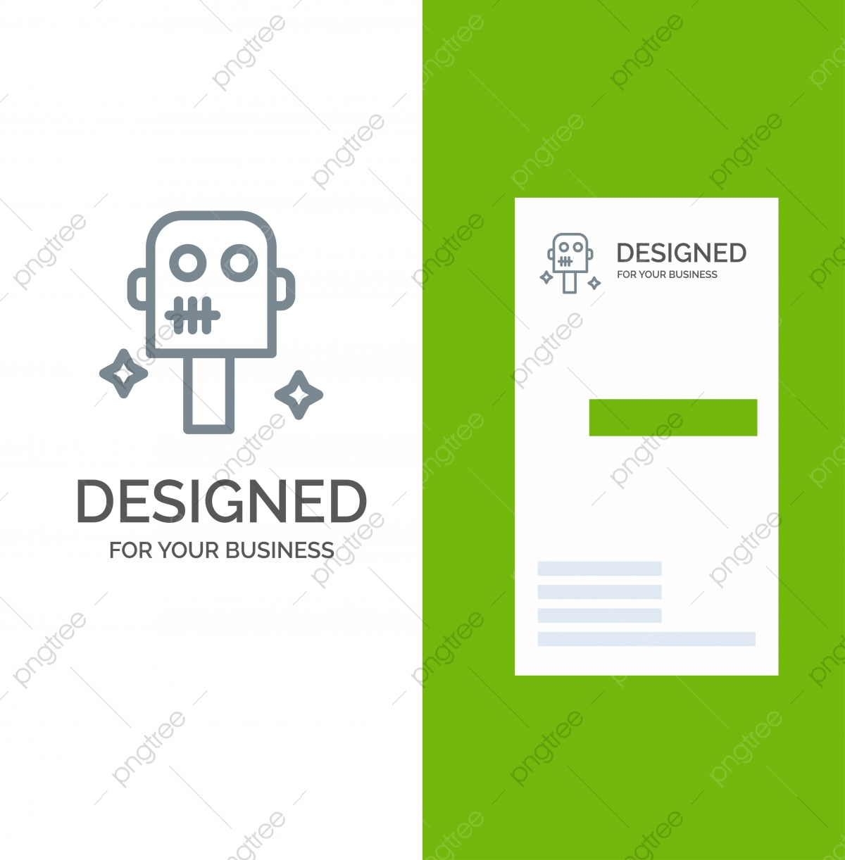 pngtree space suit robot grey logo design and business card template png image 4657290