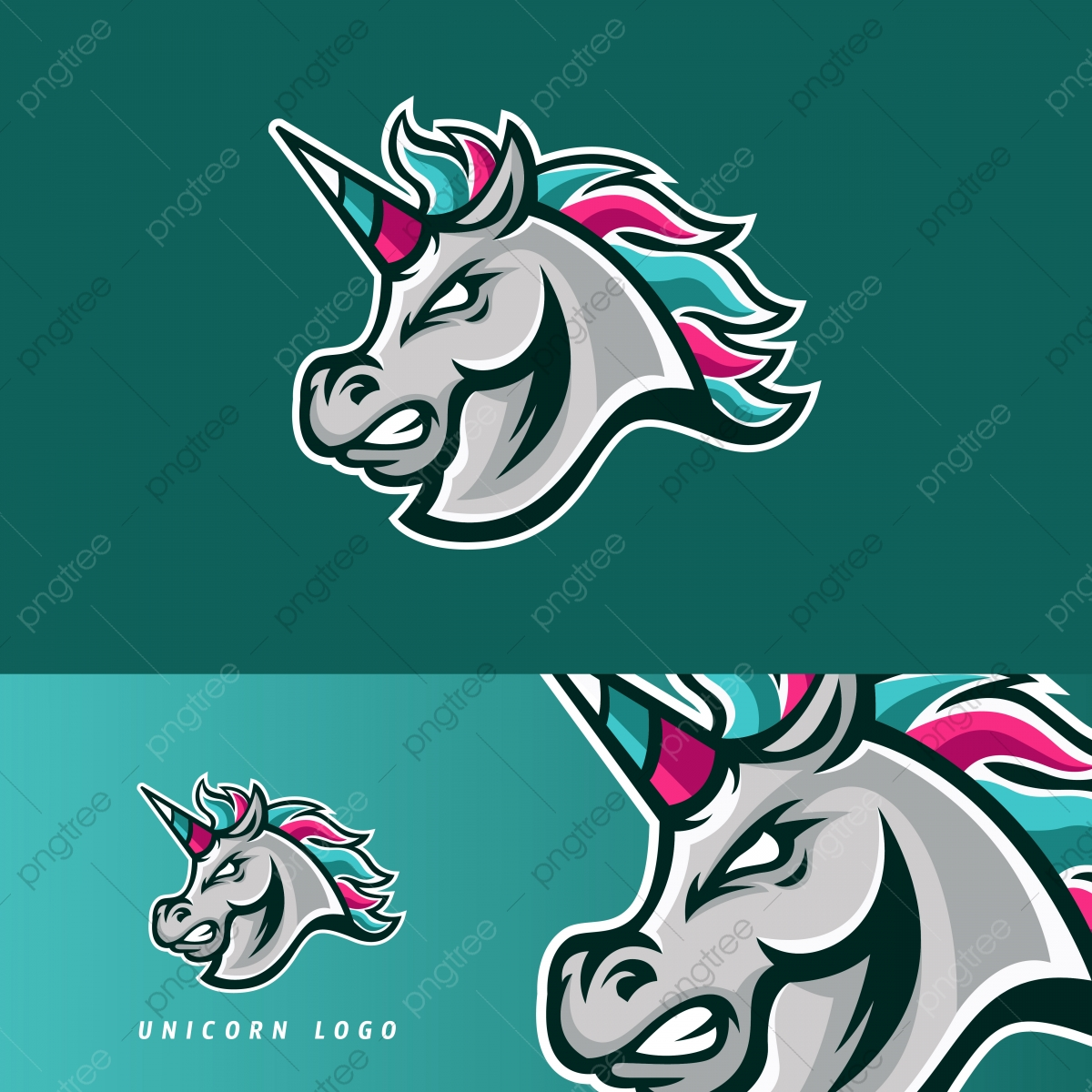Unicorn Horse Esport Gaming Mascot Logo Template Template Download On Pngtree