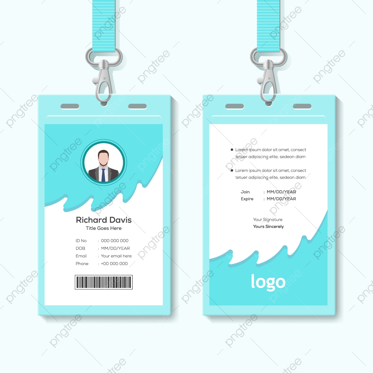 Abstract Template Staff Or Employee Identification Card Vector Illustrations Or Id Card Template Download On Pngtree