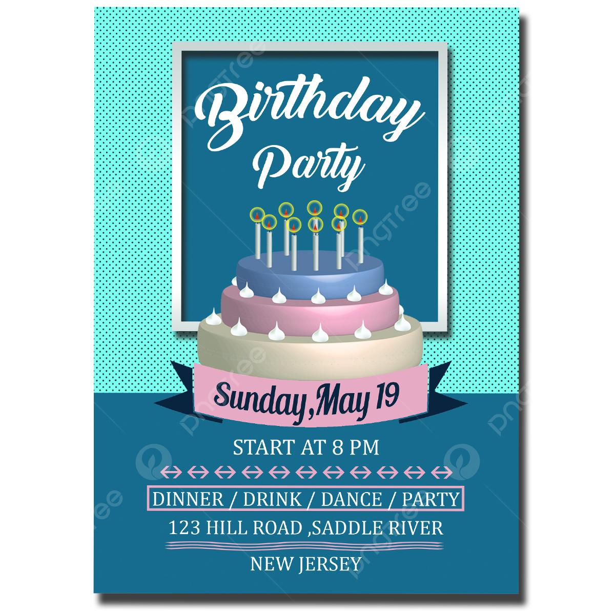 Gambar Templat Kad Jemputan Hari Lahir Kad Psd Templat Untuk Muat Turun Percuma Di Pngtree