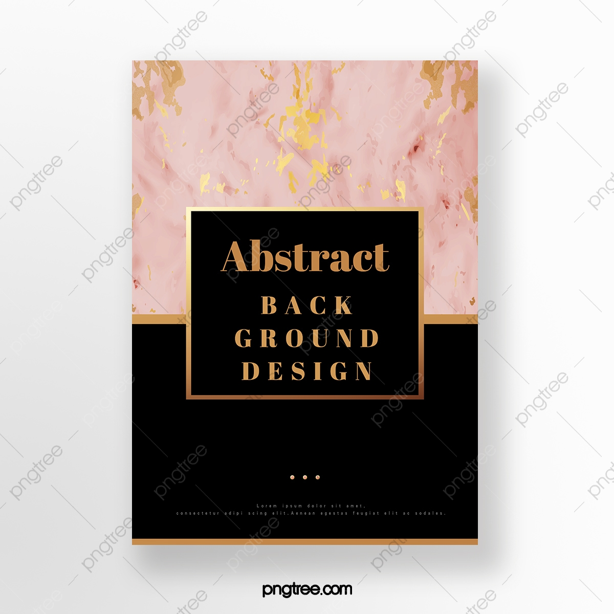 Marble Poster With Rose Gold Geometric Patterns Template Download On Pngtree
