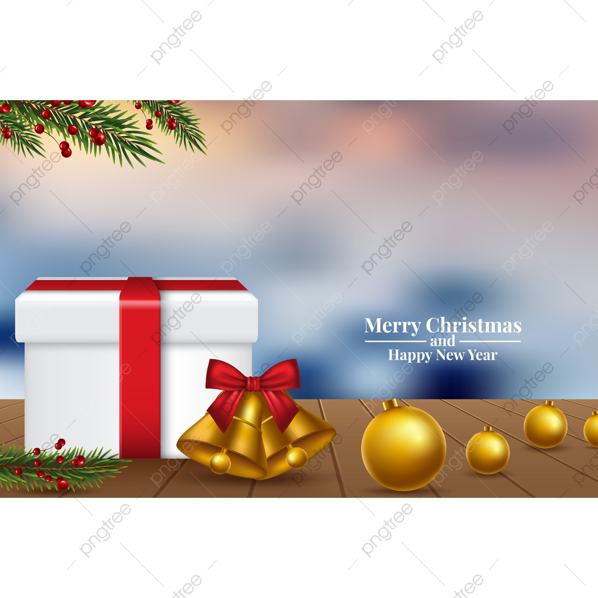 Merry Christmas And Happy New Year 2020 Greeting Card Template Download On Pngtree