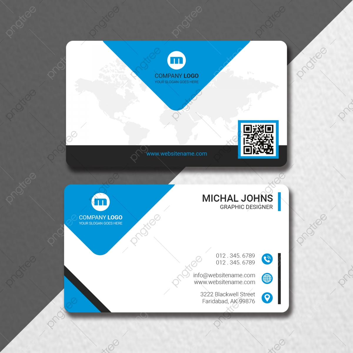 Modern Business Card With Map Qr Code Template Download on Pngtree For Qr Code Business Card Template