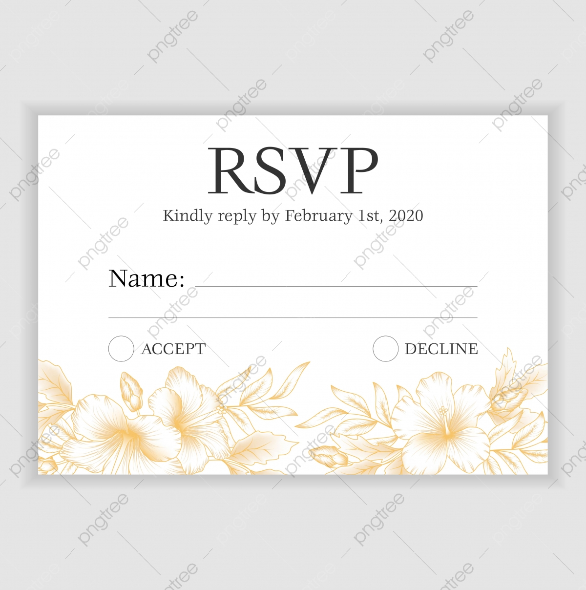 Rsvp Card Template from png.pngtree.com