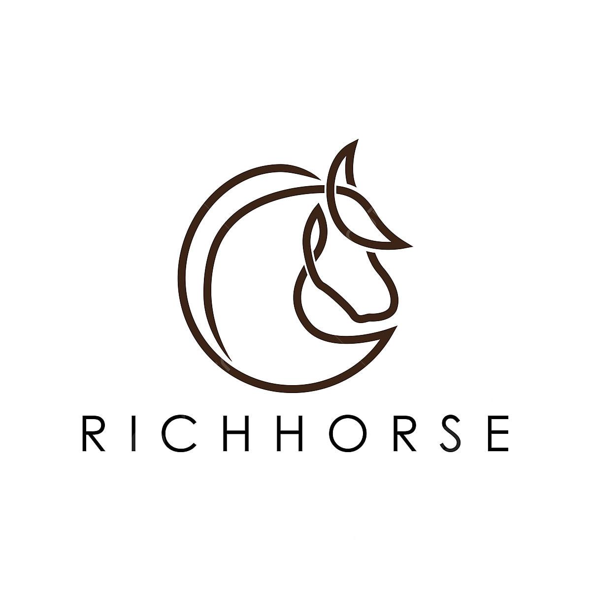 Simple Elegant Monoline Horse Logo Design Template Download On Pngtree