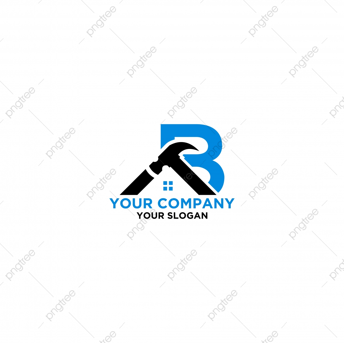 B Home Construction Logo Design Vector Template For Free Download On Pngtree,Simple Horse Embroidery Design