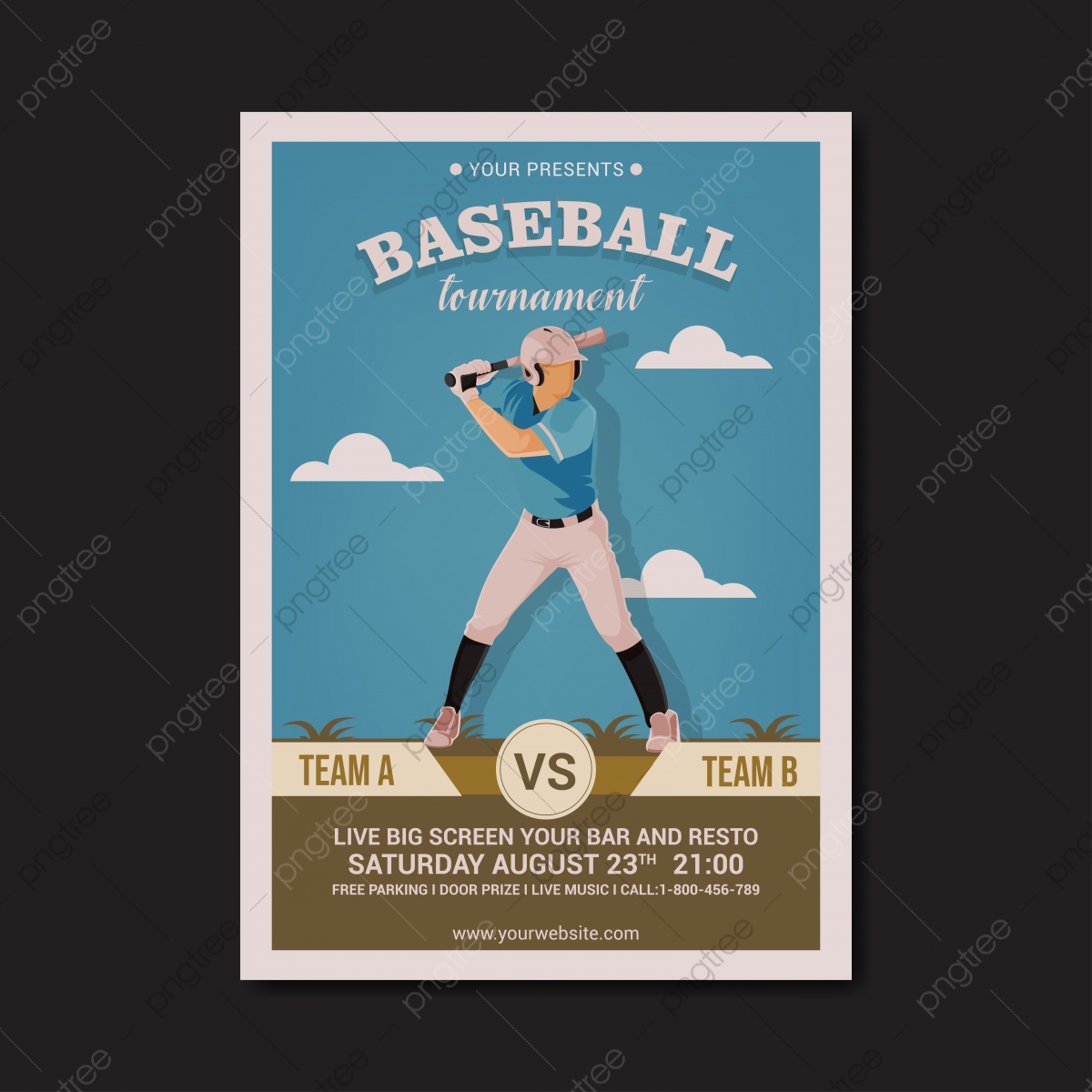 Free Baseball Flyer Template from png.pngtree.com