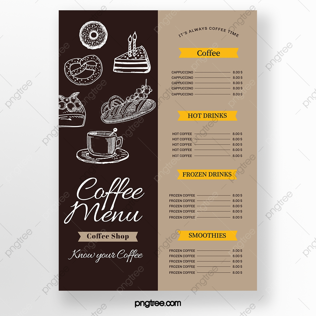 Coffee Menu Png Images Vector And Psd Files Free Download On Pngtree