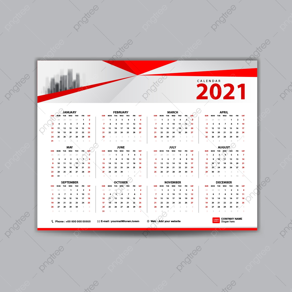 Calendar 2021 Design Template Template for Free Download on Pngtree