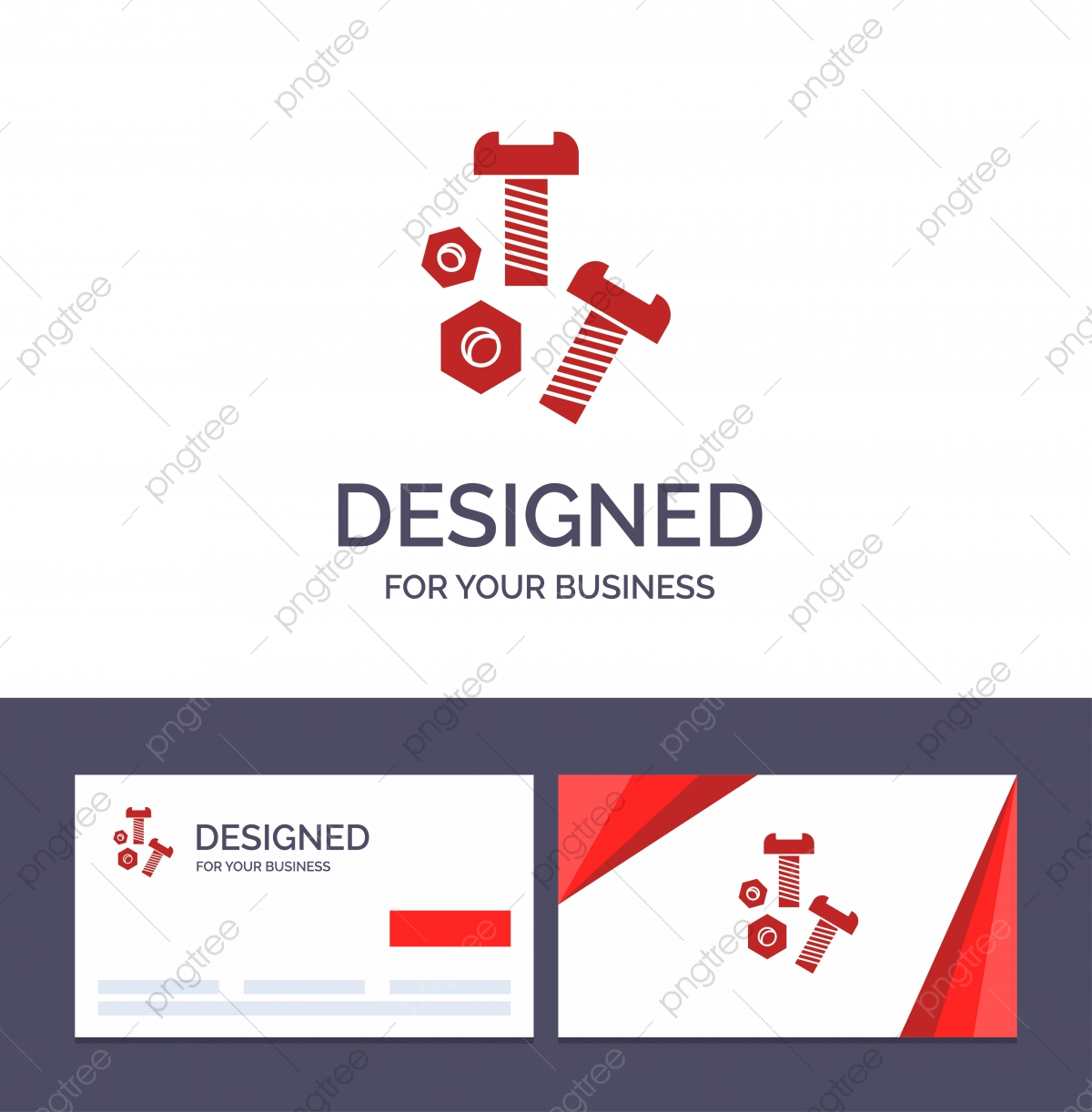 Creative Business Card And Logo Template Bolt Nut Screw Tools Template For Free Download On Pngtree