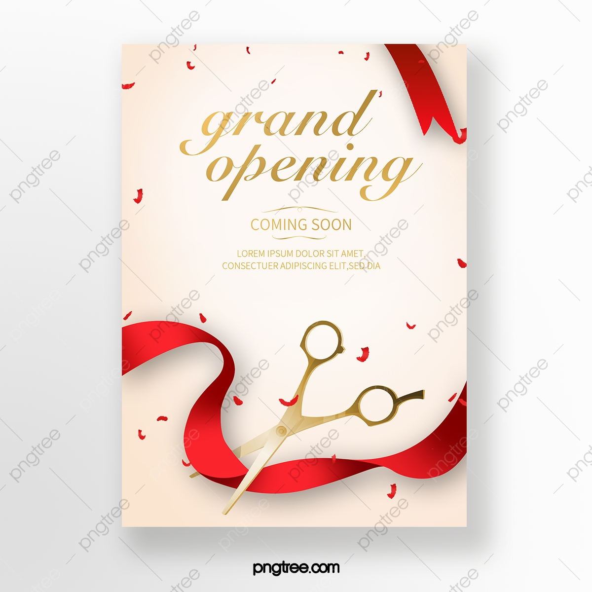 Creative Grand Opening Ceremony Invitation Template Download on