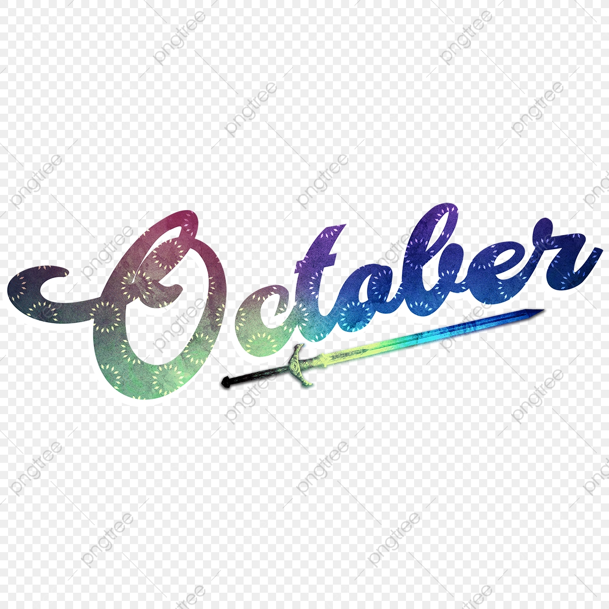 October Month Name Art Png Image Alphabet In English Font Effect Psd For Free Download