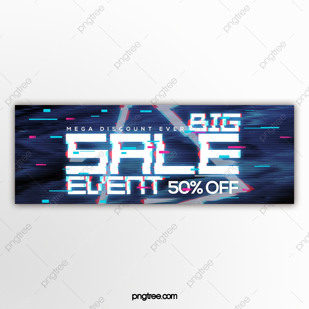 Personality Creative Failure Electronic Style Promotion Banner Template For Free Download On Pngtree