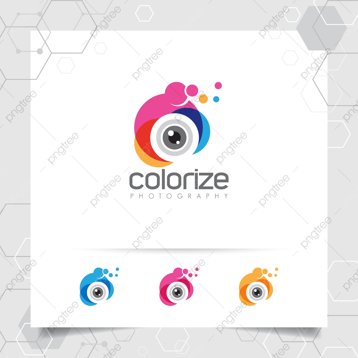 Photography And Photo Logo Design With Concept Of Colorful Camera Lens Icon Vector For Photographer Template For Free Download On Pngtree