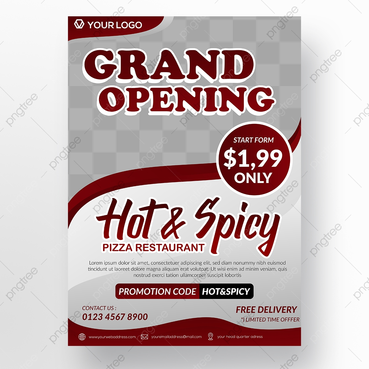 Pizza Restaurant Flyer Template Template Download On Pngtree