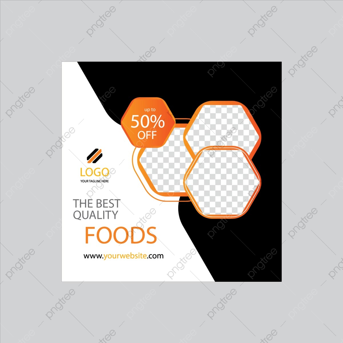 Yellow Color Restaurant Square Flyer Design Template Download On Pngtree