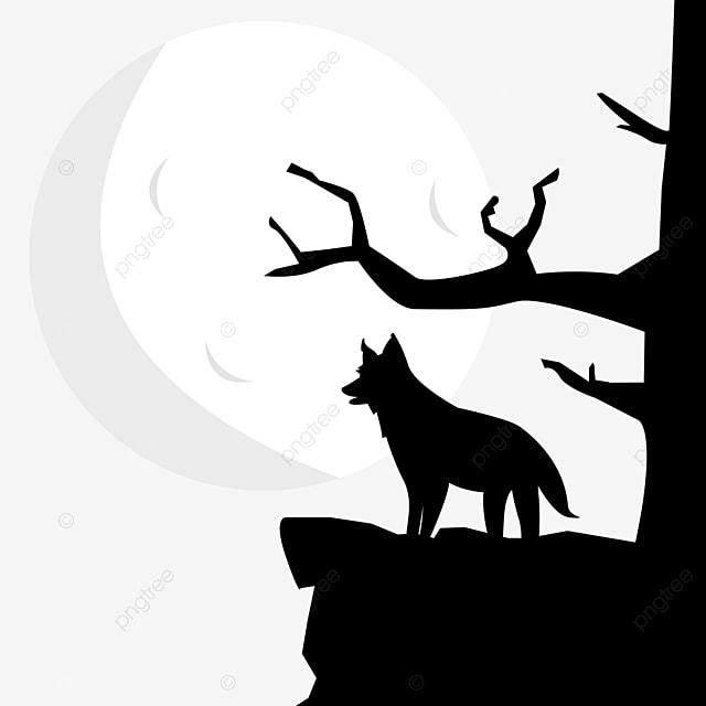 孤独な夜空月狼動物シルエット 動物 狼 寂しい画像とpsd素材ファイルの無料ダウンロード Pngtree