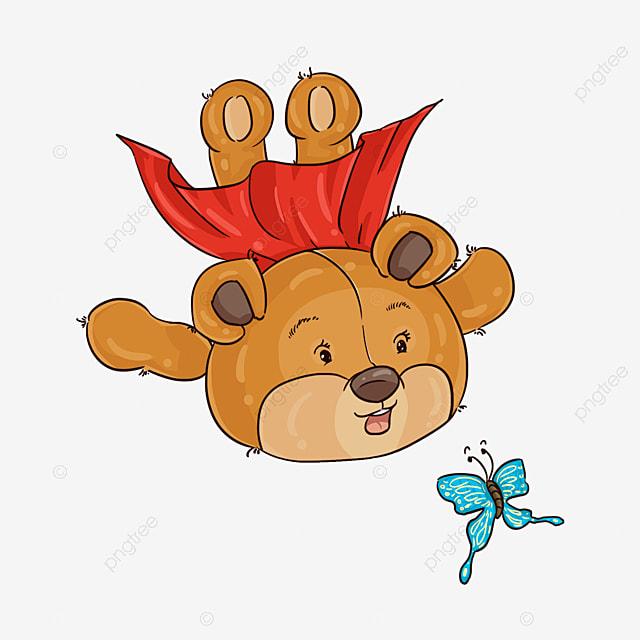 Ours En Peluche Dessine A La Main Dans Un Manteau Clipart Ours Teddy Bear Marron Fichier Png Et Psd Pour Le Telechargement Libre