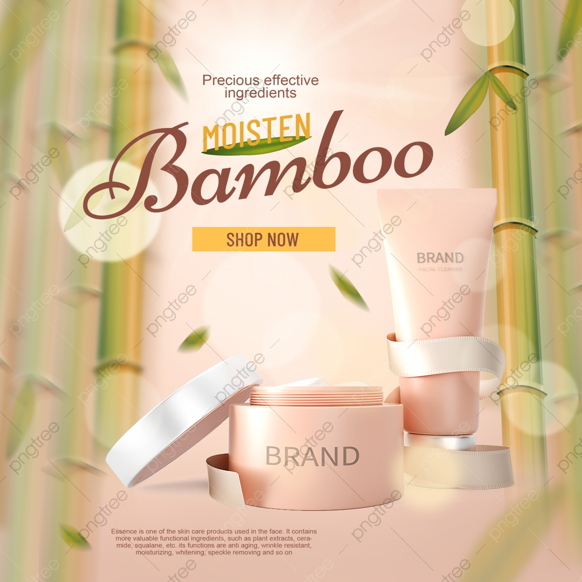 Bamboo Leaf Skin Care Promotion Banner Template For Free Download On Pngtree