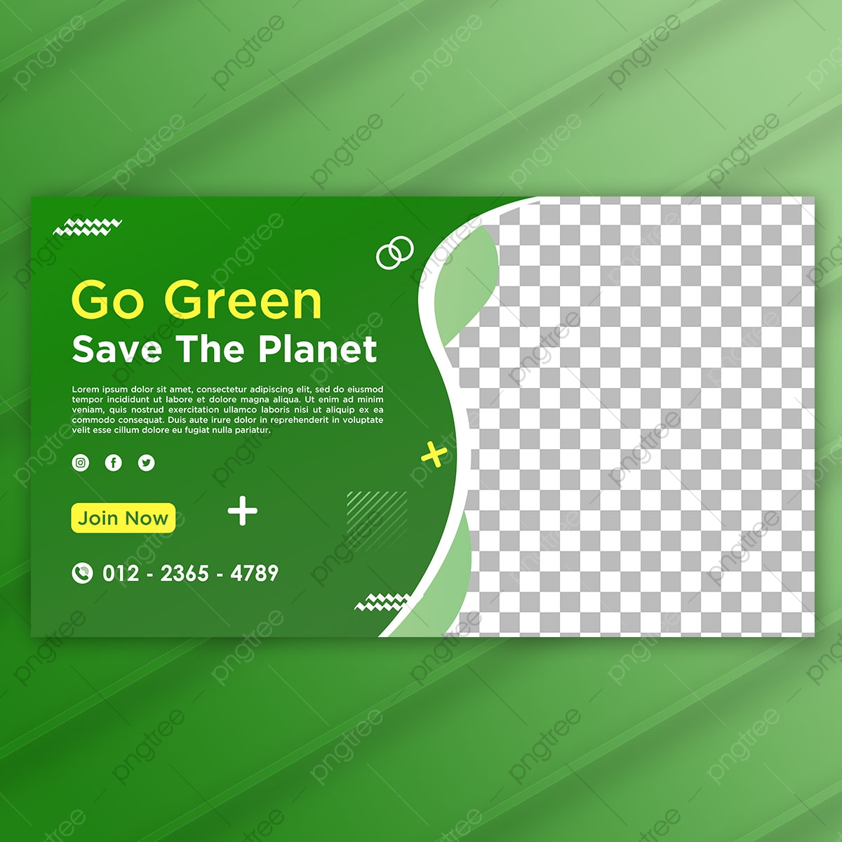 Banner Landing Page Go Green Save The Planet Template Psd Template For Free Download On Pngtree