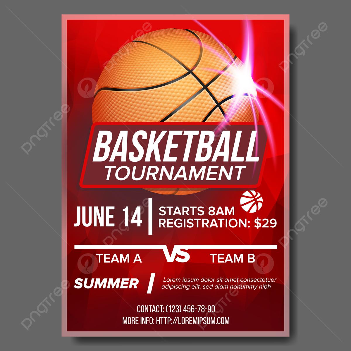 Basketball Poster Vektor Turnier Banner Werbung Sport Bar Ereignis ...