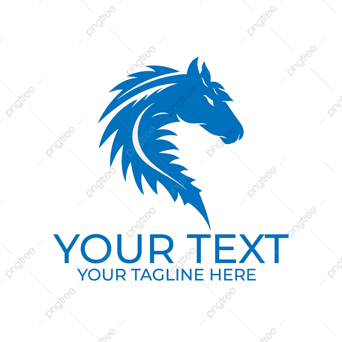 Beautiful Horse Face Logo Template Download On Pngtree