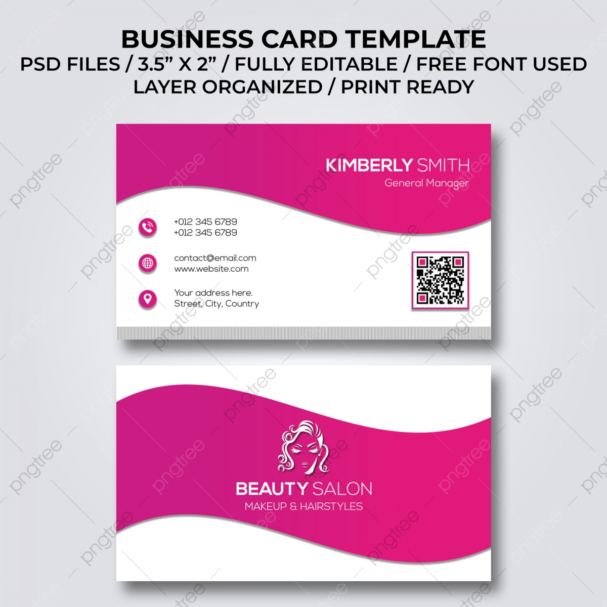 Beauty Salon Business Card Png Images Vector And Psd Files Free Download On Pngtree