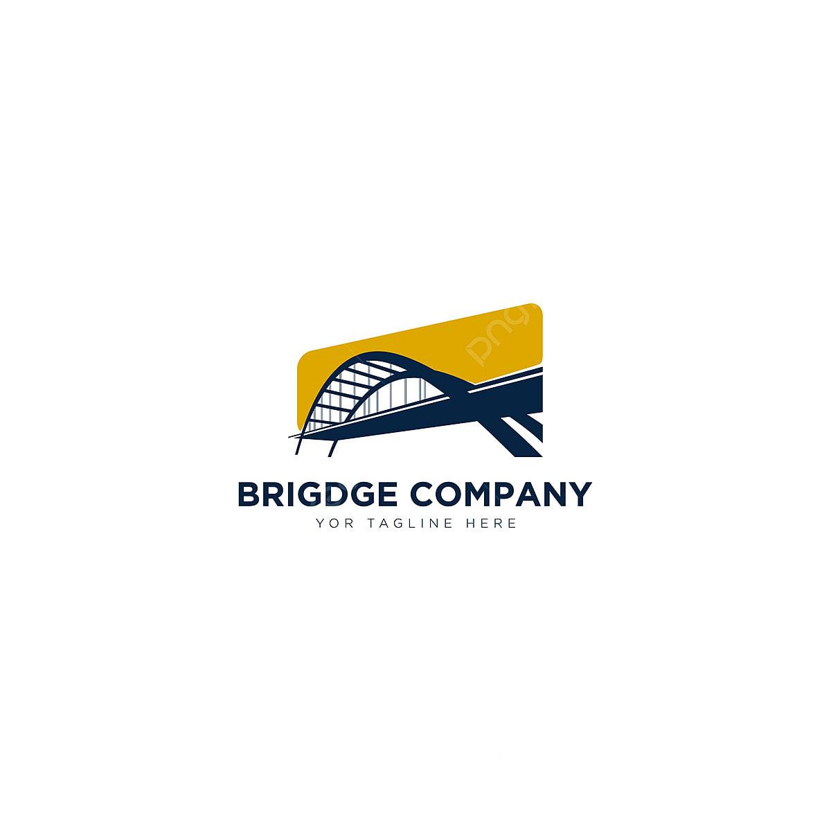 Gambar Reka Bentuk Logo Syarikat Jambatan Untuk Logo Kontraktor Templat Untuk Muat Turun Percuma Di Pngtree