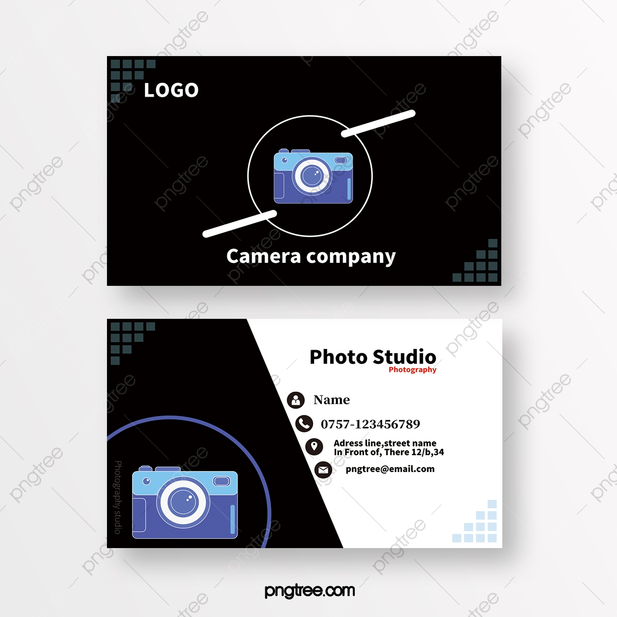 Belle Modèles De Cartes De Visite Pour Les Studios De Photographie Et UC-33